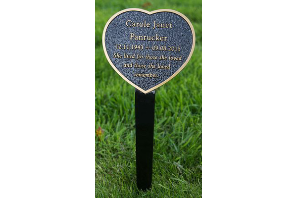 Well known Bronze Metal Plaques with Stakes | Metal Designs LLC JR62