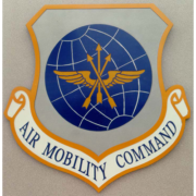 Bronze And Aluminum Seals And Logos Air Mobility Command Logo