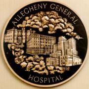 Bronze And Aluminum Seals And Logos Allegheny General Hospital Logo