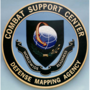 Bronze And Aluminum Seals And Logos Combat Support Center Defense Mapping Agency Seal
