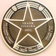 Bronze And Aluminum Seals And Logos Frank Sinatra Star Logo