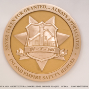 Bronze And Aluminum Seals And Logos Inland Empire Safety Heroes Seal