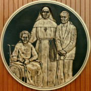 Bronze And Aluminum Seals And Logos Nun Protecting The Elderly Seal