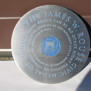 Bronze And Aluminum Seals And Logos The James W. Rouse Civic Medal Of Honor Seal