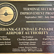 Cast Bronze Plaque Airport Security Bronze Plaque