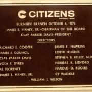 Cast Bronze Plaques Citizens National Bank Branch Plaque