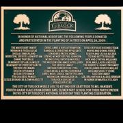 Cast Bronze Plaques Donor Recognition Town Plaque