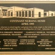 Cast Bronze Plaques Nursing Home Plaque