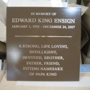 Cast Bronze Plaques Personal Memorial Plaque