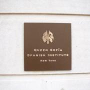 Cast Bronze Plaques Queen Sofia Spanish Institute Plaque