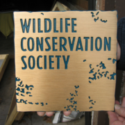 Cast Bronze Plaques Wildlife Conservation Society Logo Plaque