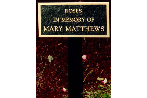 Memorial Garden Plaques Metal Designs LLC